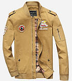 Fighting Falcon original 100% хлопок мужская милитари куртка ветровка, фото 3