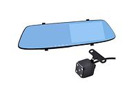 Автомобильный видеорегистратор зеркало L-9003 4,3″ 2 камеры Touch Screen 1080P Full HD