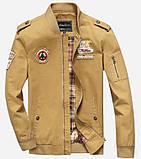 Fighting Falcon original 100% бавовна чоловіча мілітарі куртка вітровка, фото 3