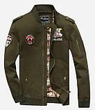 Fighting Falcon original 100% бавовна чоловіча мілітарі куртка вітровка, фото 4