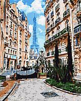 Картина по номерам Парижские улочки (40 х 50 см)