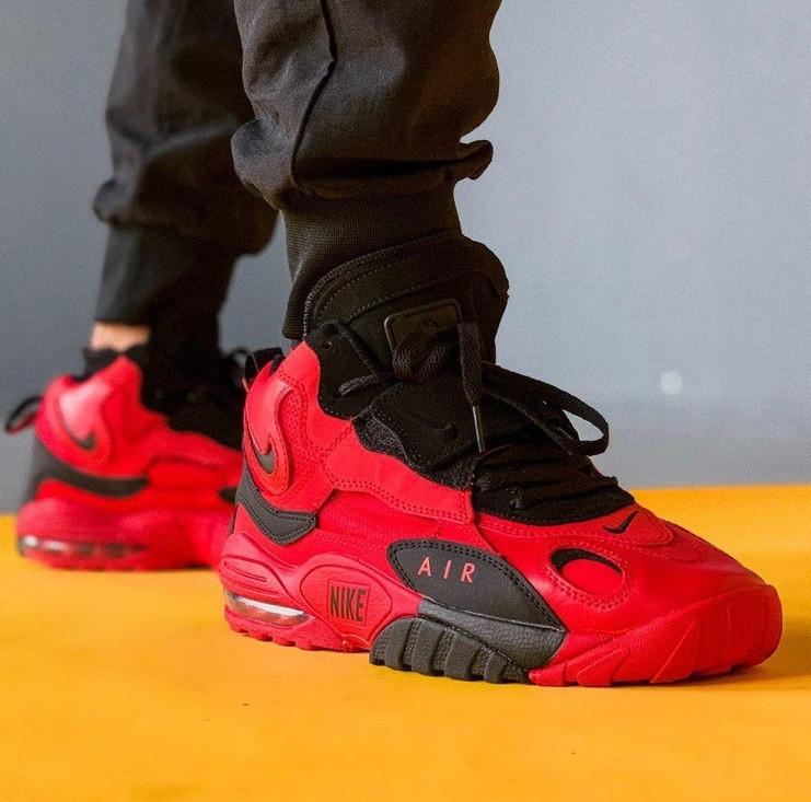 Мужские кроссовки Nike Air Max Speed Turf Red Black. Живое фото (Реплика ААА+)