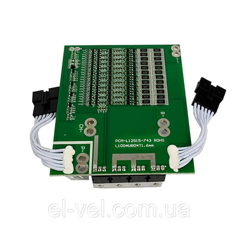 BMS 36V 12S-15A  для литий железо фосфатных аккумуляторных батарей