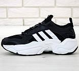 Чоловічі кросівки Adidas Consortium x Naked Magmur Runner чорні з білим. Фото в живу. Репліка, фото 2