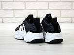 Чоловічі кросівки Adidas Consortium x Naked Magmur Runner чорні з білим. Фото в живу. Репліка, фото 4