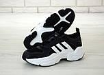 Чоловічі кросівки Adidas Consortium x Naked Magmur Runner чорні з білим. Фото в живу. Репліка, фото 5