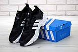 Чоловічі кросівки Adidas Consortium x Naked Magmur Runner чорні з білим. Фото в живу. Репліка, фото 7