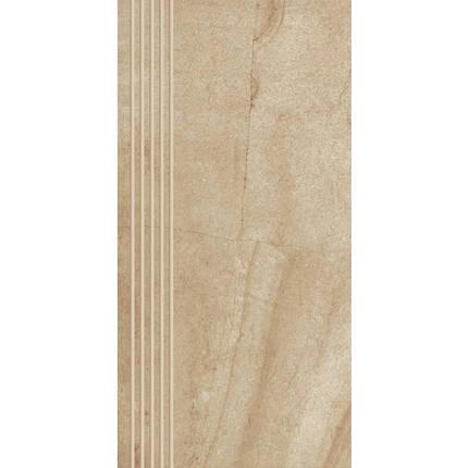 Плитка напольная Paradyz Ceramica Teakstone Ochra Stopnicf Prosta Nacinana Mat 30 x 60, фото 2