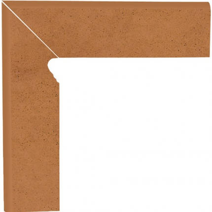 Плинтус керамический Paradyz Aquarius Brown Cokol Schodowy Dwuelemtntowy Lewy 8.1x30, фото 2