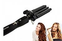 Плойка тройная профессиональная PRO MOZER MZ-6621 Утюжок для волос