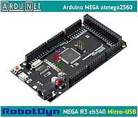 Arduino Mega 2560 Ардуино мега Mega2560 R3 ch340 atmel atmega2560 кабель micro usb robotdyn