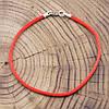 Серебряный оберег Красная нить длина 19 см ширина 2 мм вес 0.7 г, фото 2