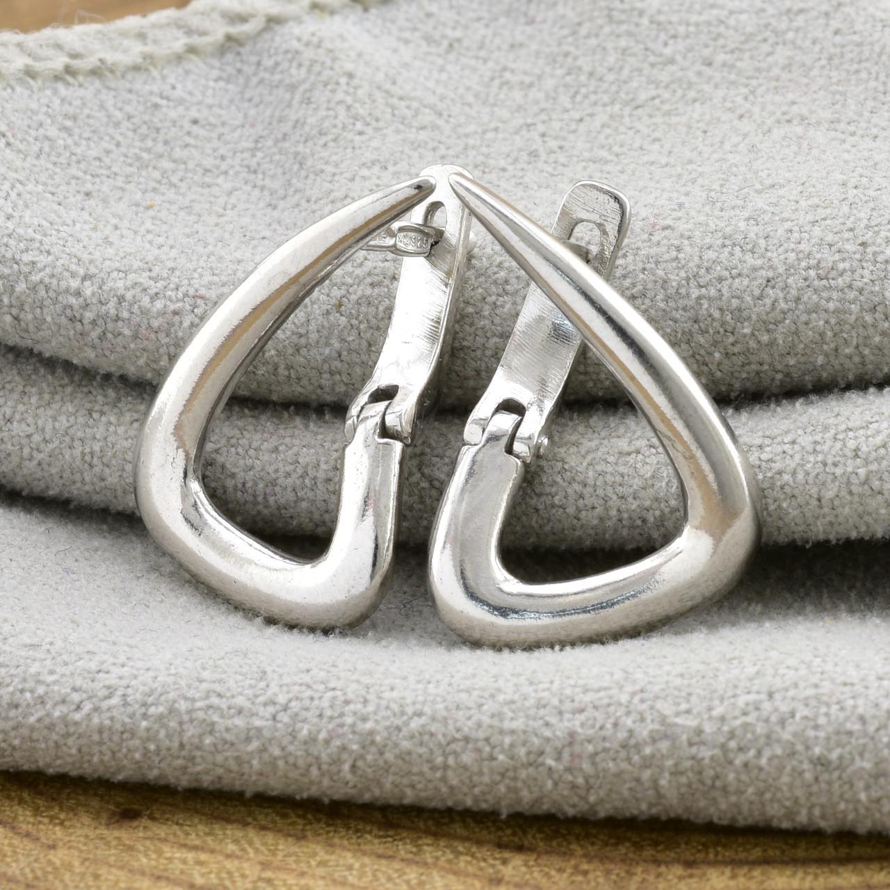 Серебряные серьги Елла размер 21х15 мм вес 3.22 г