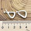Серебряные серьги Елла размер 21х15 мм вес 3.22 г, фото 2