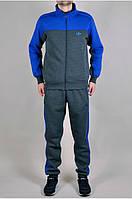 Зимний теплый спортивный костюм Adidas Утепленные штаны + утепленная кофта Чоловічий зимовий спортивний адидас