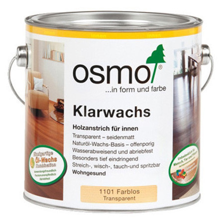 Масло для твёрдых пород дерева Osmo Klarwachs, 1101 бесцветное 0,125 л