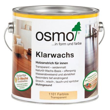 Масло для твёрдых пород дерева Osmo Klarwachs, 1101 бесцветное 2,5 л