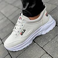 Женские кроссовки белые ( код 7712 ) - кросівкм жіночі білі
