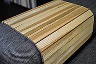 Деревянная накладка-столик на подлокотник дивана (ЛАК ВИП 3) #2i2ua