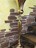 Свадебная подставка на высокой ножке для цветочных композиций (Бриллиант)