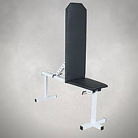 Лавка регульована для жима (до 250 кг) зі Стійками (до 200 кг). Штанги пряма, w-подібна та гантеліі, фото 5