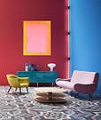 Картина Зефирка, Желтый и Розовый живопись масло холст галерейная натяжка 70х90 см, фото 5