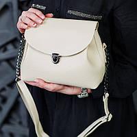 Женская сумочка кросс-боди бежевого цвета
