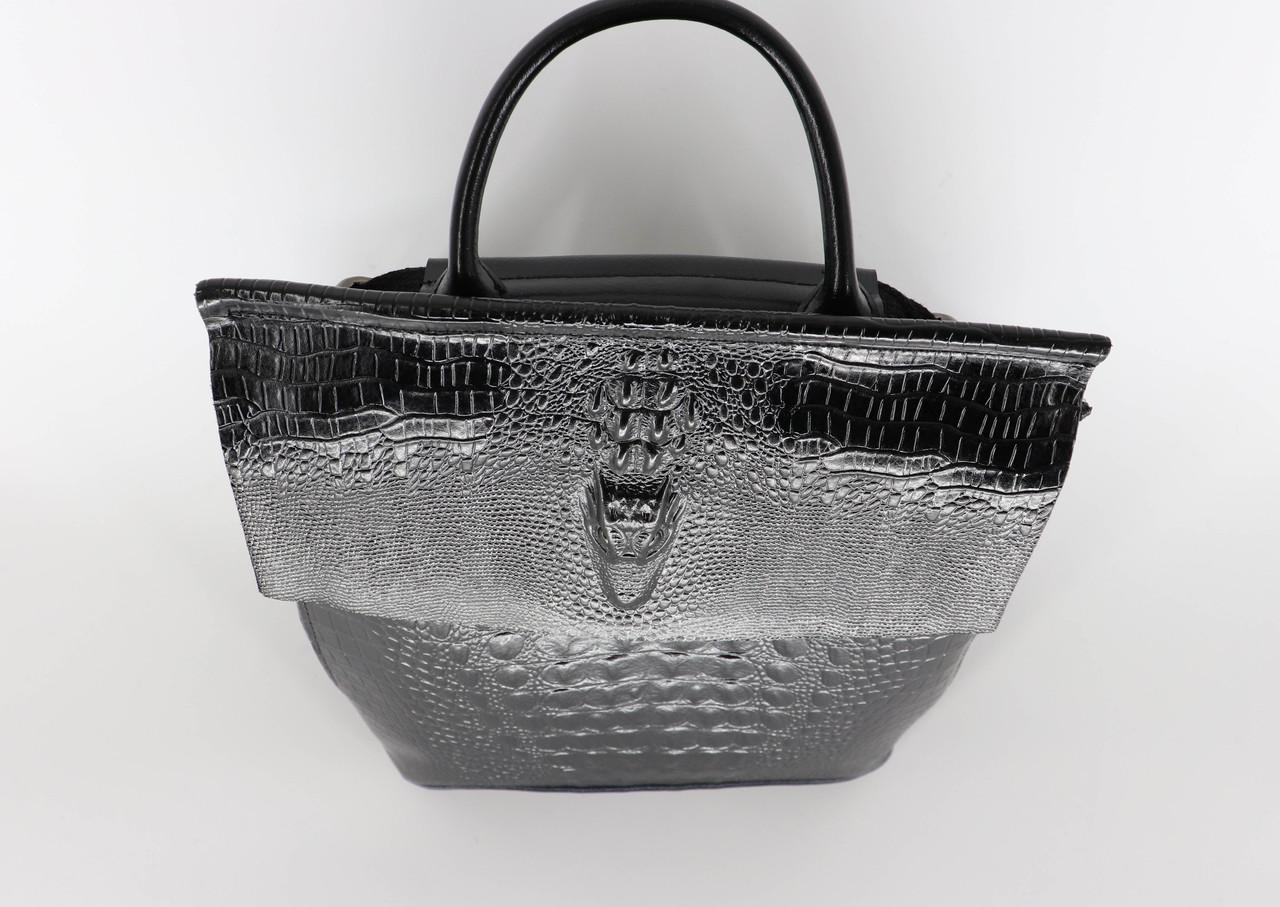 Женский кожаный рюкзак №1608-3VT Black, фото 5
