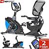 Горизонтальный велотренажер Hop-Sport HS-070L Helix Blue iConsole+ до 150 кг. Гарантия 24 мес.
