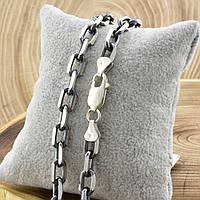 """Серебряная цепочка с чернением """"Якорная"""", длина 60 см, ширина 7 мм, вес 54.0 г"""