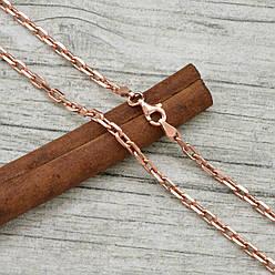 Серебряная цепочка позолоченная Якорная ширина 4 мм  длина 50