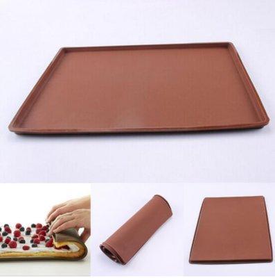 Коврик силиконовый для бисквита с бортиком 40*60см