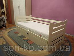Ліжко дерев'яне Марко з підйомним механізмом біле/слон.кістка