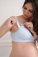 3068 Бюстгальтер для вагітних бавовняний блакитний 95C, фото 1