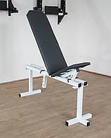 Лавка регульована для жима (до 250 кг) зі Стійками (до 250 кг). Штанга та гантелі 75 кг, фото 7