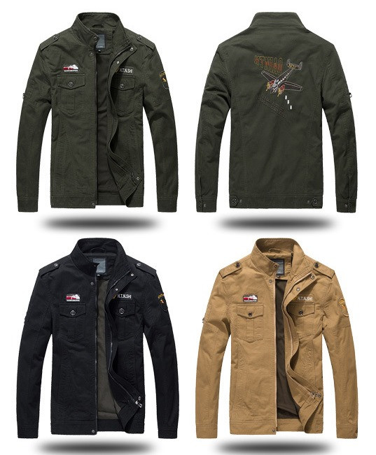H.T.N.SHI original 100% хлопок мужская милитари куртка ветровка