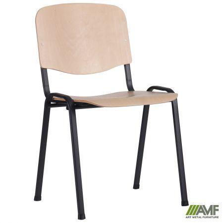 Офісний стілець Ізо Вуд Чорний каркас/фанера AMF