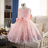 Очень красивое платье Персиковое на рост 110-120 см, фото 5
