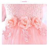 Очень красивое платье Персиковое на рост 110-120 см, фото 6