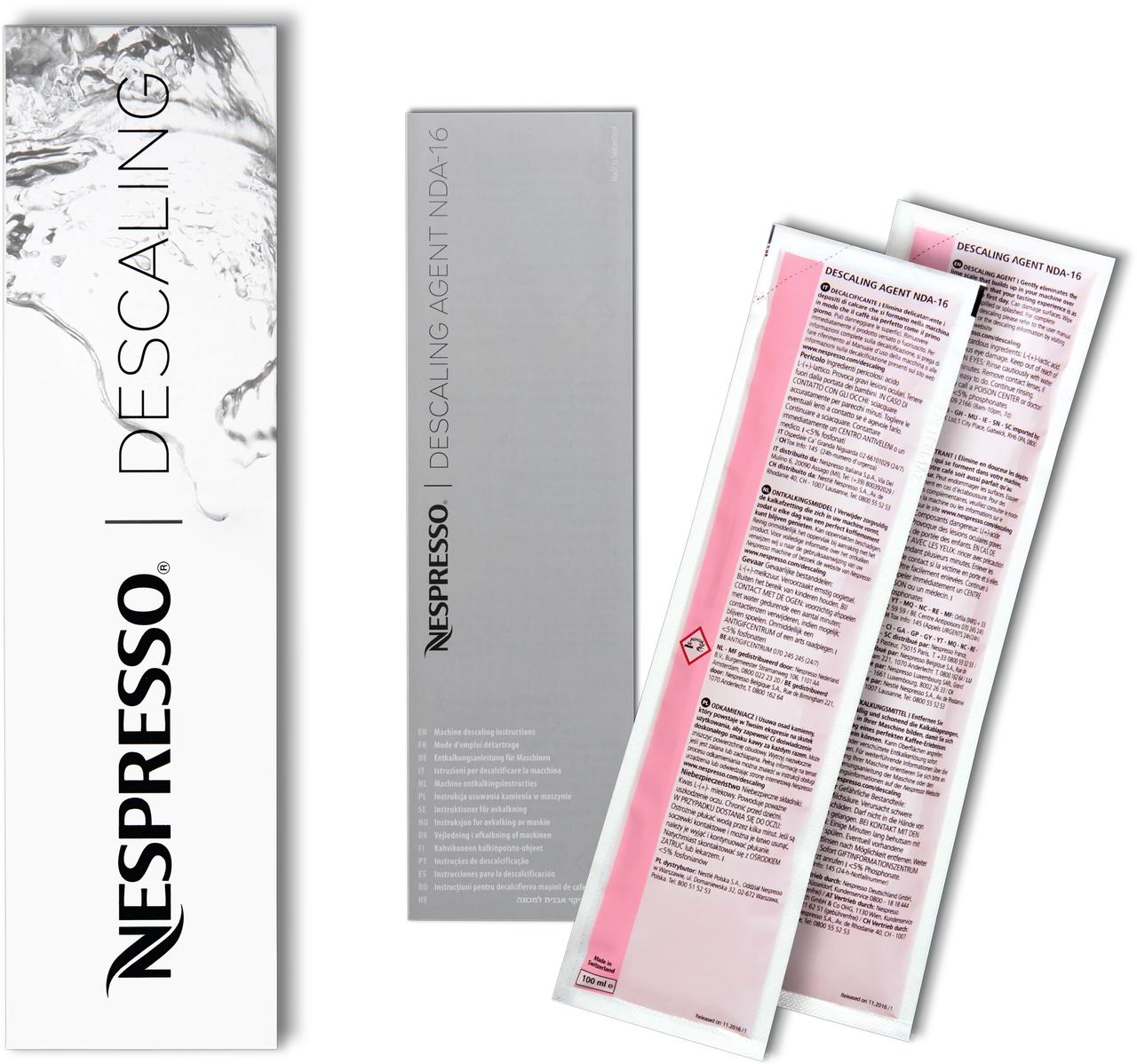 Nespresso Descaling - набор для Декальцинации для 1-ой очистки (удаление накипи)