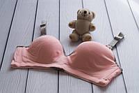 3068 Бюстгальтер для вагітних бавовняний рожевий з сірим 70C, фото 1