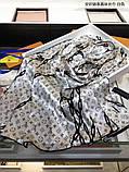 Палантин, шарф Луи Витон шелковый, реплика, фото 6