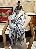 Палантин, шарф Луи Витон шелковый, реплика, фото 7