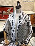 Палантин, шарф Луї Вітон шовковий, репліка, фото 3