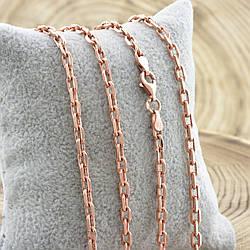 Серебряная цепочка позолоченная Якорная ширина 3.5 мм  длина 60