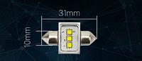 MAXGTRS лампа автомобильная C5W 3 светодиода 12 V белый Оплата на почте