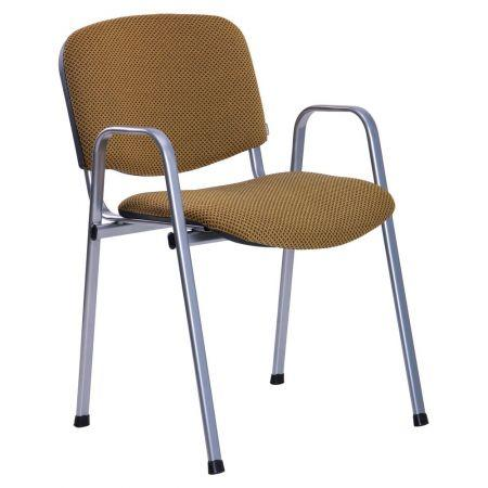 Офісний стілець Ізо В алюмінієвий каркас/тканина Квадро-41 AMF