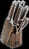 Набор кухонный ножей с ножницами и подставкой Rondell Glaymore RD-984 (5 ножей, ножницы, подставка)
