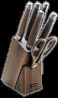 Набор кухонный ножей с ножницами и подставкой Rondell Glaymore RD-984 (5 ножей, ножницы, подставка), фото 1