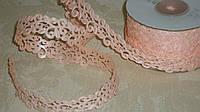 Лента декоративная 2 см персикового цвета